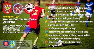 Szkoła Mistrzostwa Sportowego w Ostrołęce!
